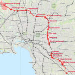 Map of proposed cross city railway from Springvale to Melbourne Airport
